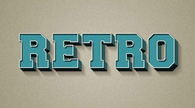 Crear un Texto Efecto Retro 3D utilizando estilos de capa en Adobe Photoshop - 20 Tutoriales con Efectos de Photoshop 2015 que no te puedes perder