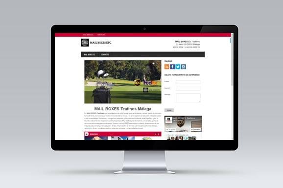 Web MAIL BOXES Teatinos Málaga diseñada y desarrollada por iMeelZ - Trabajos