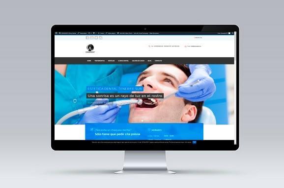 Web CENSADENT Clínica Dental diseñada y desarrollada por iMeelZ - Trabajos
