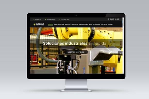 Web Multiidioma INGENUT diseñada y desarrollada por iMeelZ - Trabajos