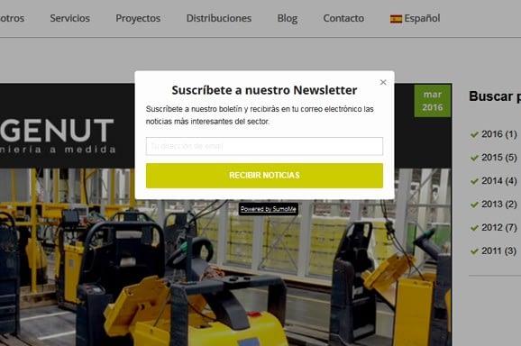 pop up newsletter inbound marketing - Trabajos