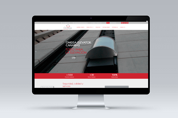 Diseño Web Tenerife Omega Elevator Canarias - Trabajos