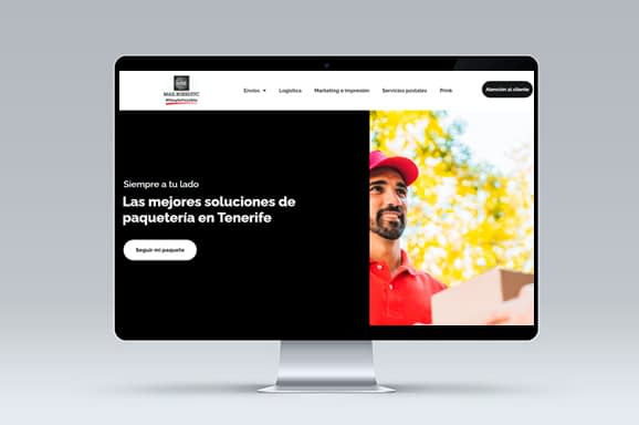 Diseno web Tenerife Mail Boxes - Trabajos