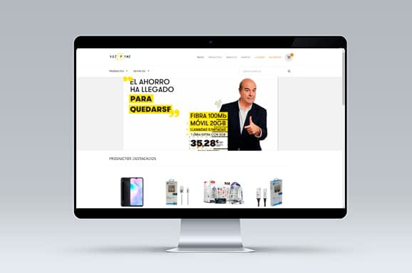 Diseno web Tenerife Vozipyme - Trabajos