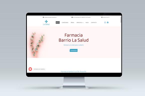 Diseno web Farmacia Barrio La Salud iMeelZ - Trabajos
