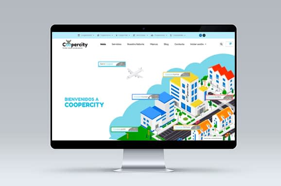 Diseno web coopercity Tenerife - Trabajos